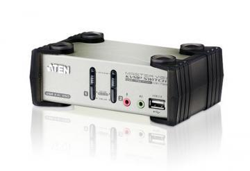 ATEN 2 Port Audio/OSD USB KVM Desktop Switch
