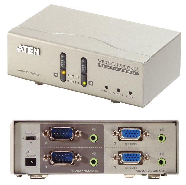 ATEN 2 Port VGA Video Matrix Switch