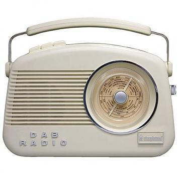 Steepletone Dorset Retro DAB Radio, Cream