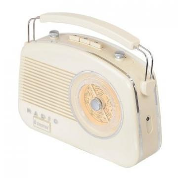 Steepletone Beige Brighton Retro Radio