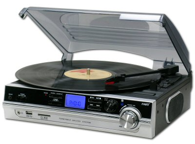 Steepletone Turntable & MP3 Player Silver