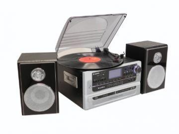 Steepletone Silver 5-in-1 Music System With BT & CD Burning
