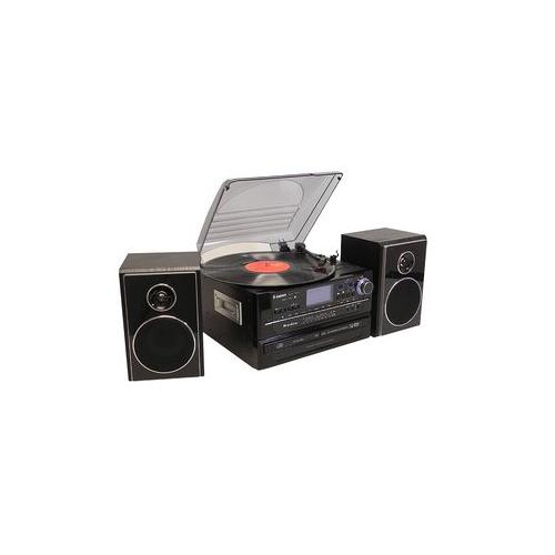 Steepletone Black 5-in-1 Music System With BT & CD Burning