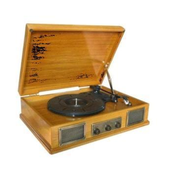 Steepletone Norwich 2 Light Oak Record Player