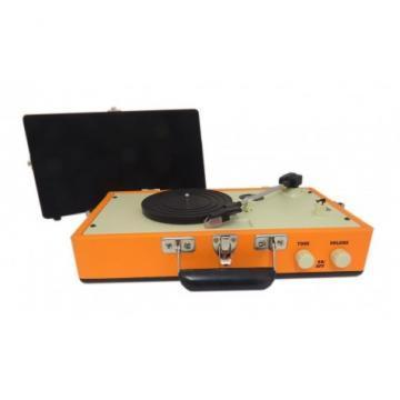 Steepletone Orange Retro Style Record Player