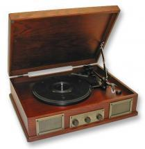 Steepletone Norwich 2 Dark Oak Record Player