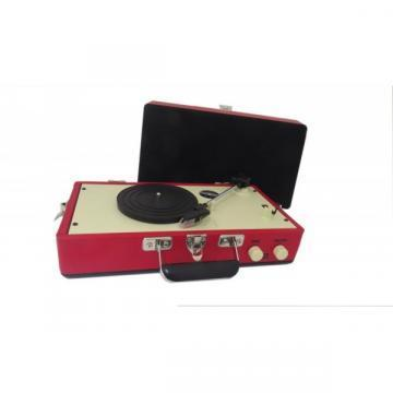Steepletone Red Retro Style Record Player