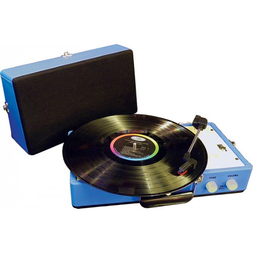 Steepletone Blue Retro Style Record Player