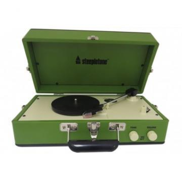 Steepletone Green Retro Style Record Player