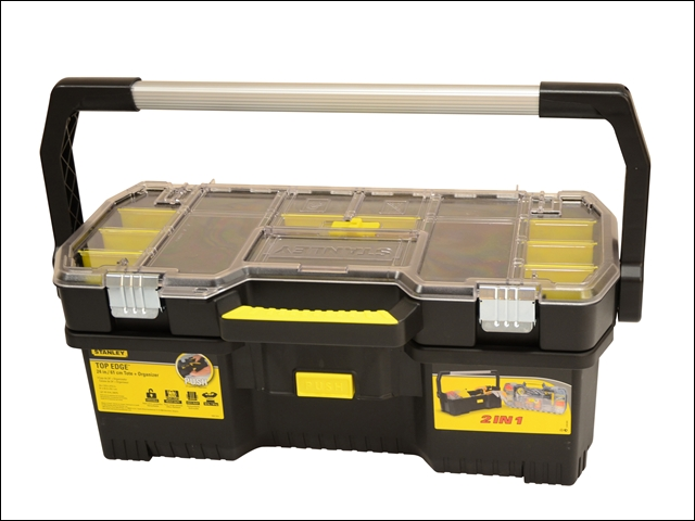 "Stanley 24"" Toolbox with Tote Tray Organiser"