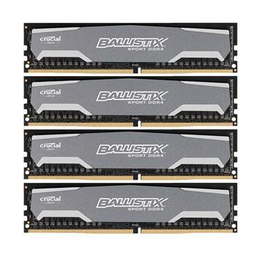 Crucial 16GB (4x 4GB) Ballistix Sport DDR4 Memory Modules