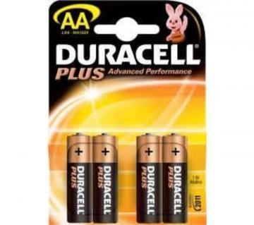 Duracell Plus Power with Duralock, Pack of 4, Alkaline, 1.5 V, AA