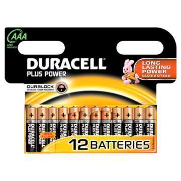 Duracell Plus Power with Duralock, Pack of 12, Alkaline, 1.5 V, AAA