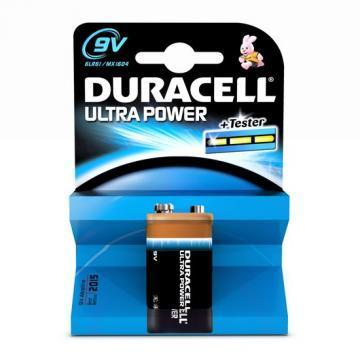Duracell Ultra Power With Duralock, Single Cell, Alkaline, 9 V, PP3