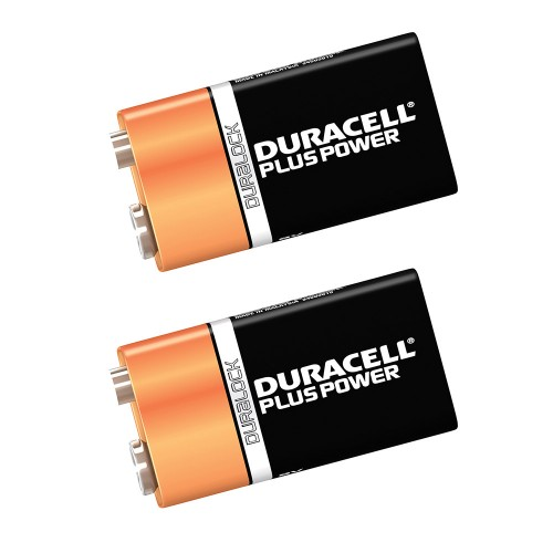 Duracell Plus Power with Duralock, Pack of 2, Alkaline, 9 V, PP3