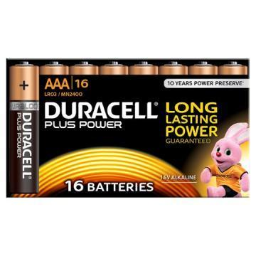 Duracell Plus Power with Duralock, Pack of 16, Alkaline, 1.5 V, AAA