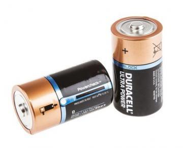 Duracell Ultra Power With Duralock, Pack of 2, Alkaline, 1.5 V, D