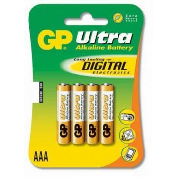 GP Ultra, Pack of 4, Alkaline, 1.5 V, AAA Battery