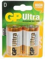 GP Ultra, Pack of 2, Alkaline, 1.5 V, D Battery