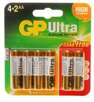 GP Ultra, Alkaline, 1.5 V, AA Battery