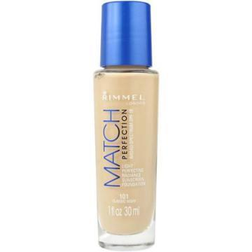 Rimmel London Match Perfection SPF 18 Sunscreen Foundation Light Nude