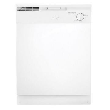 "Frigidaire FBD2400KW 24"" Built-In Dishwasher White 2 Cycle"