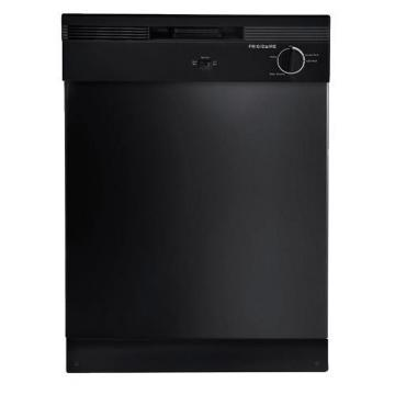 "Frigidaire FBD2400KB 24"" Built-In Dishwasher Black 2 Cycle"