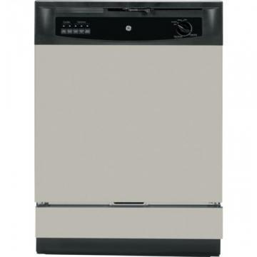 "GE GSD3340KSA 24"" Built-In Dishwasher Silver 5 Cycle"