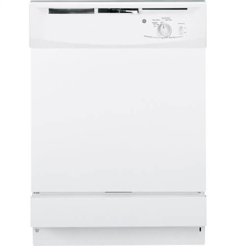 "GE GSD2100VWW 24"" Built-In Dishwasher White 5 Cycle"