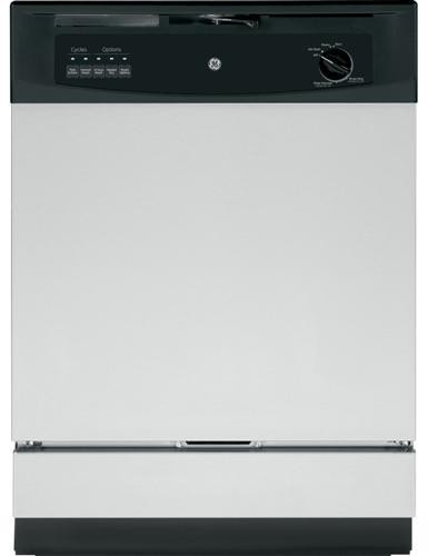 "GE GSD3360KSS 24"" Built-In Dishwasher 5 Cycles"