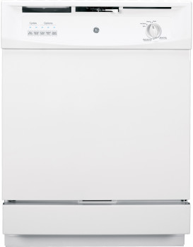 "GE GSD3300DWW 24"" Built-In Dishwasher Energy Star 5 Cycles"