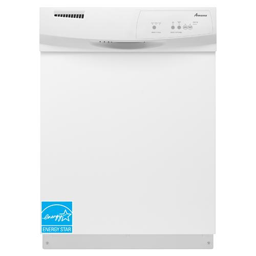 "Amana ADB1100AWW 24"" Built-In Dishwasher White 5 Cycle"