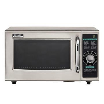 Sharp R-21LCF Commercial Microwave, 1000 Watt, 1.0 Cubic Feet