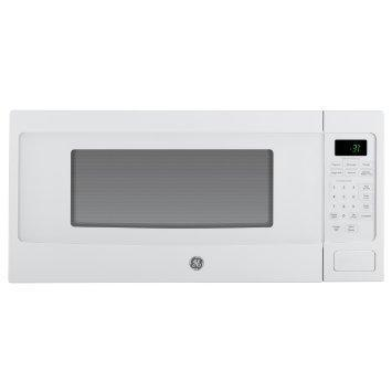 GE PEM31DFWW Profile Series 1.1 Cu Ft Countertop Microwave, White