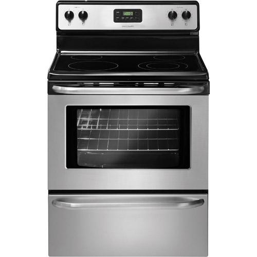"Frigidaire FFEF3043LS 30"" Smooth Top Electric Range Stainless Steel"