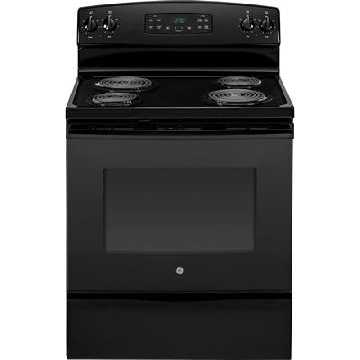 "GE JB250DFBB 30"" Freestanding Electric Range-Black"