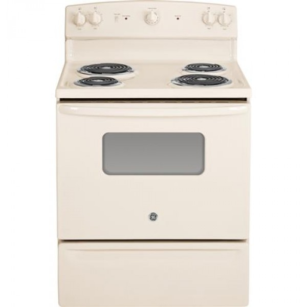 "GE JBS10DFCC 30"" Freestanding Electric Range Bisque"