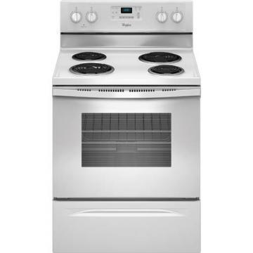 "Whirlpool WFC310S0EW 30"" Self Clean Electric Range White"