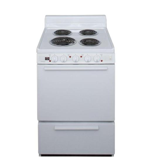"Premier ECKLOHOP 24"" Electric Range White"