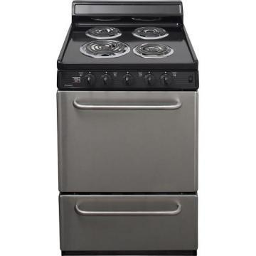 "Premier ECK600BP 24"" Electric Range Stainless Steel Front Black"