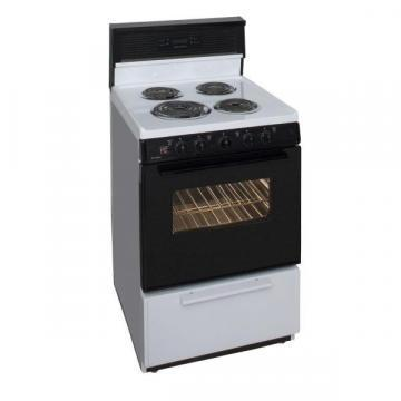 "Premier ECK340WP 24"" Electric Range Black/White"