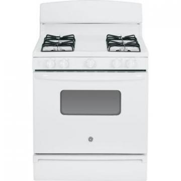 "GE JGBS10DEFWW 30"" Gas Range Electric Ignition - White"