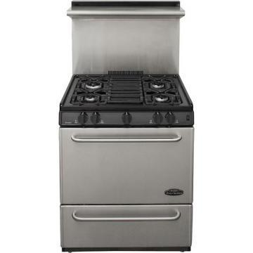 "Premier P30S330BP 30"" Stainless Steel Range Black"