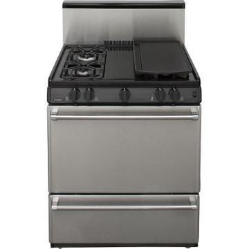 "Premier P30S328BP 30"" Gas Range Electronic Ignition 3.9 Cu Ft"