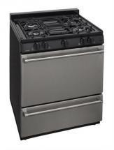 "Premier P30S310BP 30"" Stainless Steel Range Black"