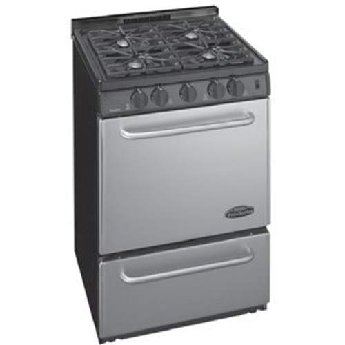 "Premier P24S320BP 24"" Stainless Steel Range Black"