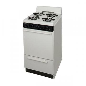 "Premier SAK100TP 20"" Electronic Ignition Gas Range Bisque"