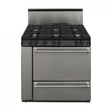 "Premier P36S328BP 36"" Stainless Steel Range Black"