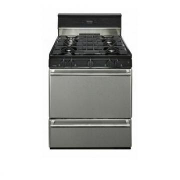 "Premier P30S340BP 30"" Stainless Steel Range Black"