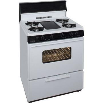 "Premier BFK5S9WP 30"" Cordless Steel Gas Range White"